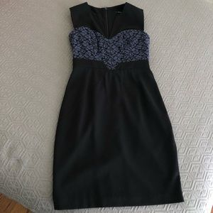Black and Blue lace cocktail dress